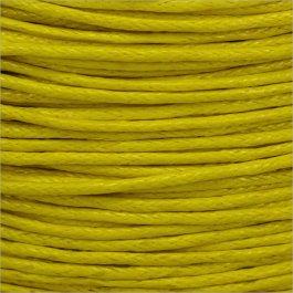 Voskovaná šnúrka 1mm, žltá - 1m (1310)