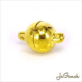 Magnetické zapínanie guľa 10 x 15 mm zlatá 1pár (176)