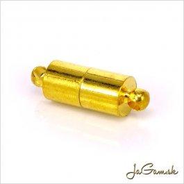 Magnetické zapínanie 16 x 6 mm zlatá 1pár (227)