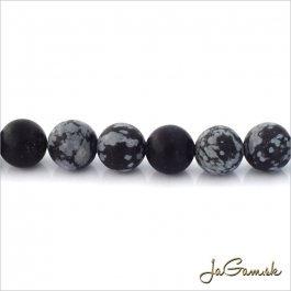 Minerál Obsidián 8mm 10ks (13726)