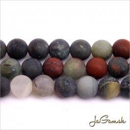 Minerál Jaspis africký bloodstone 8mm 10ks (13738)