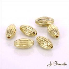 Plastové korálky 10,5x5 mm zlaté, 10 ks (947)