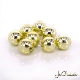 Plastové korálky 6 mm zlaté, 40 ks (939)