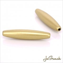 Akrylové korálky 27x6mm zlatá mat, 10ks (959)