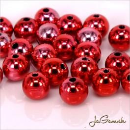 Akrylové korálky 8 mm, červené, 15 ks (917)