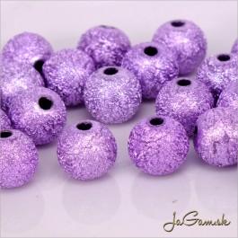 Akrylové korálky 10 mm, fialové, 10 ks (922)