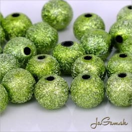 Akrylové korálky 10 mm, zelené, 10 ks (923)