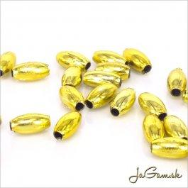 Plastové korálky 8x4mm, zlatá, cca45 ks (927)