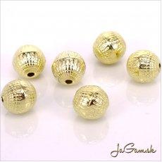Plastové korálky 8mm zlaté, 10 ks (946)