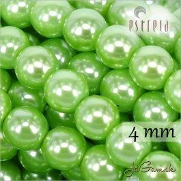 Voskované perly - ESTRELA - zelená 13548 veľkosť 4 mm, 30 ks (č.16)