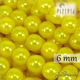 Voskované perly - ESTRELA - žltá 13818, veľkosť 6 mm, 20 ks (č.4)