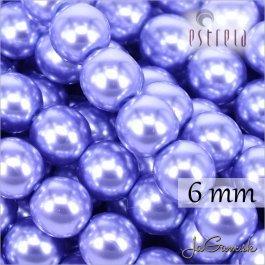 Voskované perly - ESTRELA - fialová svetlá 12235, veľkosť 6 mm, 20 ks (č.12)