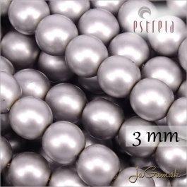 Voskované perly - ESTRELA - šedá matná 47715, veľkosť 3 mm, 40 ks (č.2)