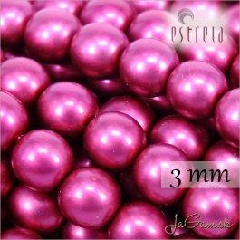 Voskované perly - ESTRELA - cyklaménová matná 47964, veľkosť 3 mm, 40 ks (č.7)