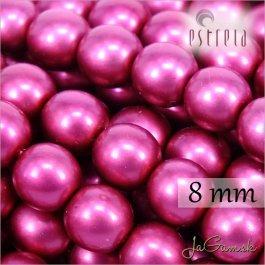 Voskované perly - ESTRELA - cyklaménová matná47964, veľkosť 8 mm, 15 ks (č.9)