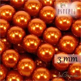 Voskované perly - ESTRELA - oranžová 12879, veľkosť 3 mm, 155ks (č.6)