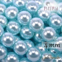 Voskované perly - ESTRELA - zelená 12325, veľkosť 4 mm, 30 ks (č.28)