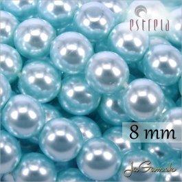 Voskované perly - ESTRELA - zelená 12325, veľkosť 8 mm, 15 ks (č.28)