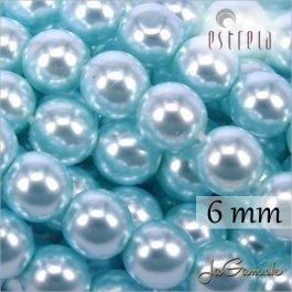 Voskované perly - ESTRELA - zelená 12325, veľkosť 6 mm, 20 ks (č.28)