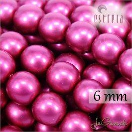Voskované perly - ESTRELA - cyklaménová matná 47964, veľkosť 6 mm, 80 ks (č.9)