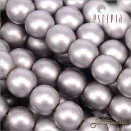 Voskované perly - ESTRELA - šedá matná 47715, veľkosť 10  mm, 12  ks (č.22)