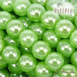 Voskované perly - ESTRELA - zelená 13548, veľkosť 10 mm, 12 ks (č.16)