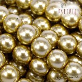 Voskované perly - ESTRELA - zlatá 47834, veľkosť 10 mm, 12ks (č.5)