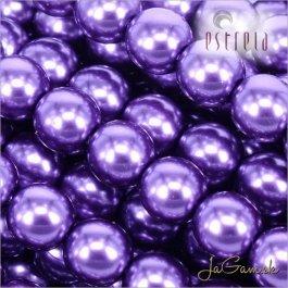 Voskované perly - ESTRELA - fialová 12297, veľkosť 12 mm, 8 ks (č.11)