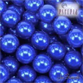 Voskované perly - ESTRELA - modrá tmavá 13349, veľkosť 12 mm, 8 ks (č.13)