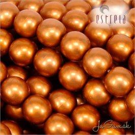 Voskované perly - ESTRELA - oranžová matná 47878, veľkosť 12 mm, 8 ks (č.7)