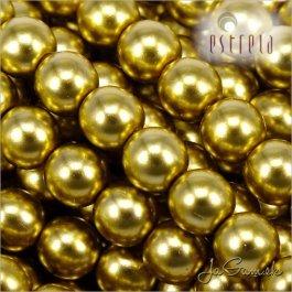 Voskované perly - ESTRELA - zlatá 47835, veľkosť 12 mm, 8 ks (č.29)