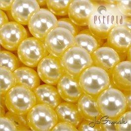 Voskované perly - ESTRELA - žltá sv. 12835, veľkosť 12 mm, 8 ks (č.24)