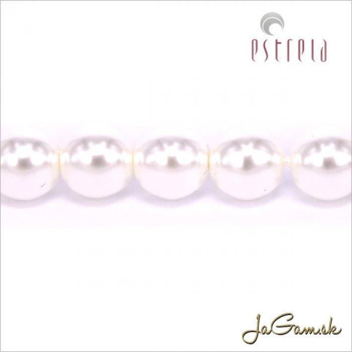 Voskované perly - ESTRELA - biela12025, veľkosť 8 mm, 75 ks (č.1)