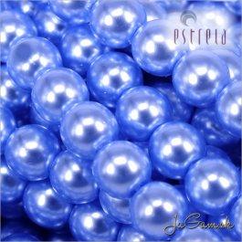 Voskované perly - ESTRELA - modrá sv. 12337, veľkosť 4 mm, 30 ks (č.27)