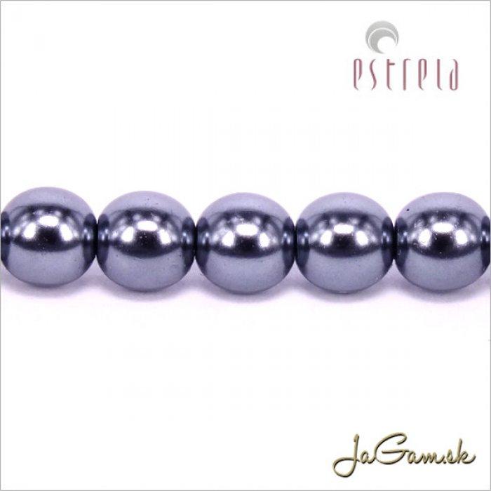 Voskované perly - ESTRELA - šedá hematit 12478, veľkosť 6 mm, 20 ks (č.20)