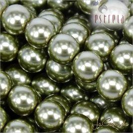 Voskované perly - ESTRELA - zelená 12565 veľkosť 4 mm, 30 ks (č.17)