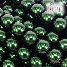 Voskované perly - ESTRELA - zelená tmavá 12588, veľkosť 4 mm, 30 ks (č.18)