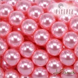 Voskované perly - ESTRELA - ružová sv. 12755, veľkosť 6 mm, 20 ks (č.25)