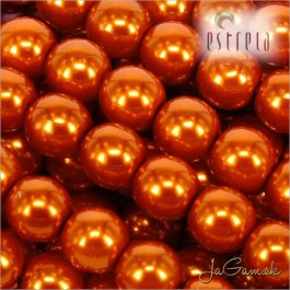 Voskované perly - ESTRELA - oranžová 12879, veľkosť 6 mm, 20 ks (č.6)