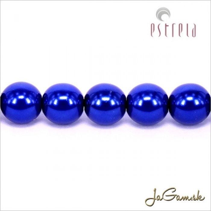 Voskované perly - ESTRELA - modrá tmavá 13349, veľkosť 6 mm, 20 ks (č.13)