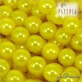 Voskované perly - ESTRELA - žltá 13818, veľkosť 4 mm, 30 ks (č.4)