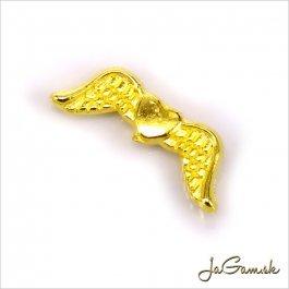 Kovové korálky - krídla 20x7x3mm zlaté 4ks (60)