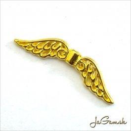 Kovové korálky - krídla 32x7x2mm zlaté 2ks (69)