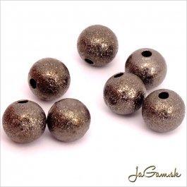 Kovové korálky - guličky 8mm, hematit 20 ks (KK122_20)