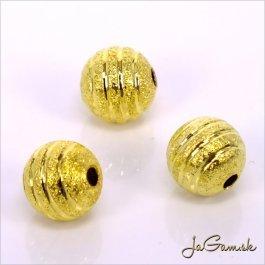 Kovové korálky - guličky 8 mm zlaté 10 ks (kk152)