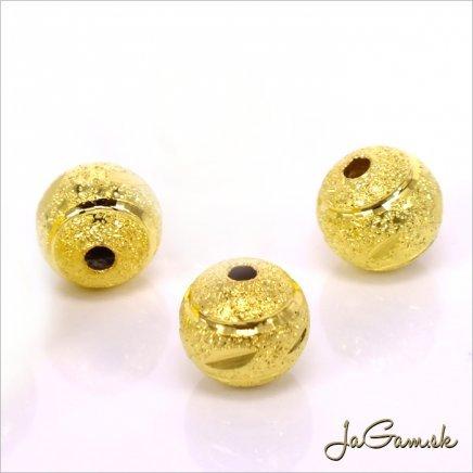 Kovové korálky - guličky 8 mm zlaté 5 ks (kk154)