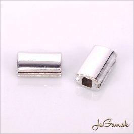 Kovová korálka 10,5x6,5mm platina, 1ks (kk180)