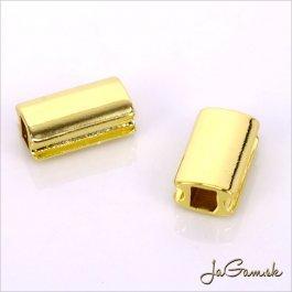 Kovová korálka 10,5x6,5mm zlatá, 1ks (kk181)