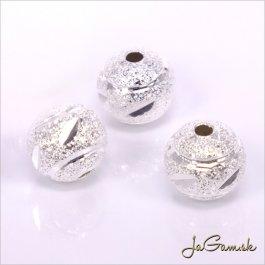 Kovové korálky - guličky 8 mm strieborné 5 ks (kk153)