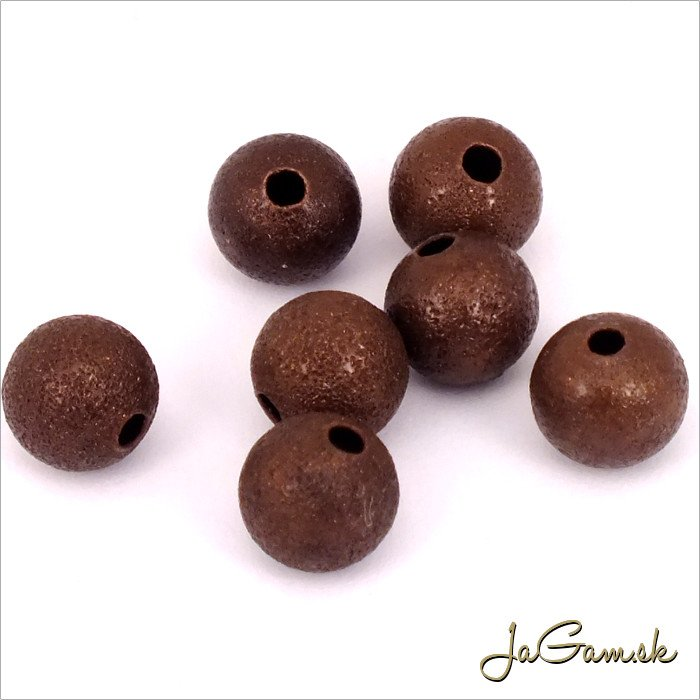 Kovové korálky - guličky 8mm, staromeď 20 ks  (KK121_20)